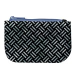 WOVEN2 BLACK MARBLE & ICE CRYSTALS (R) Large Coin Purse