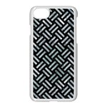 WOVEN2 BLACK MARBLE & ICE CRYSTALS (R) Apple iPhone 7 Seamless Case (White)