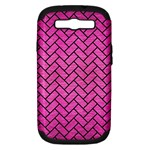 BRICK2 BLACK MARBLE & PINK BRUSHED METAL Samsung Galaxy S III Hardshell Case (PC+Silicone)
