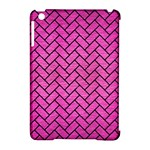 BRICK2 BLACK MARBLE & PINK BRUSHED METAL Apple iPad Mini Hardshell Case (Compatible with Smart Cover)