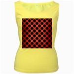 CIRCLES2 BLACK MARBLE & PINK BRUSHED METAL Women s Yellow Tank Top