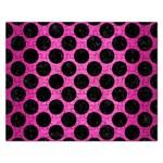CIRCLES2 BLACK MARBLE & PINK BRUSHED METAL Rectangular Jigsaw Puzzl