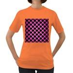 CIRCLES2 BLACK MARBLE & PINK BRUSHED METAL Women s Dark T-Shirt
