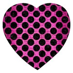 CIRCLES2 BLACK MARBLE & PINK BRUSHED METAL Jigsaw Puzzle (Heart)