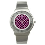 CIRCLES2 BLACK MARBLE & PINK BRUSHED METAL Stainless Steel Watch