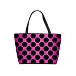 CIRCLES2 BLACK MARBLE & PINK BRUSHED METAL Shoulder Handbags