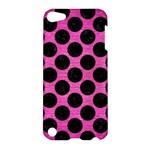CIRCLES2 BLACK MARBLE & PINK BRUSHED METAL Apple iPod Touch 5 Hardshell Case