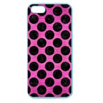 CIRCLES2 BLACK MARBLE & PINK BRUSHED METAL Apple Seamless iPhone 5 Case (Color)