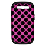 CIRCLES2 BLACK MARBLE & PINK BRUSHED METAL Samsung Galaxy S III Hardshell Case (PC+Silicone)