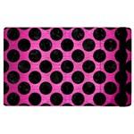 CIRCLES2 BLACK MARBLE & PINK BRUSHED METAL Apple iPad 2 Flip Case