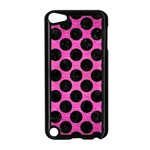 CIRCLES2 BLACK MARBLE & PINK BRUSHED METAL Apple iPod Touch 5 Case (Black)