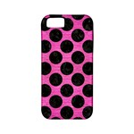 CIRCLES2 BLACK MARBLE & PINK BRUSHED METAL Apple iPhone 5 Classic Hardshell Case (PC+Silicone)