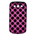 CIRCLES2 BLACK MARBLE & PINK BRUSHED METAL Samsung Galaxy S III Classic Hardshell Case (PC+Silicone)