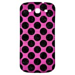 CIRCLES2 BLACK MARBLE & PINK BRUSHED METAL Samsung Galaxy S3 S III Classic Hardshell Back Case