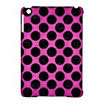 CIRCLES2 BLACK MARBLE & PINK BRUSHED METAL Apple iPad Mini Hardshell Case (Compatible with Smart Cover)