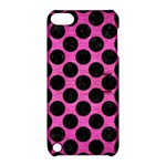 CIRCLES2 BLACK MARBLE & PINK BRUSHED METAL Apple iPod Touch 5 Hardshell Case with Stand
