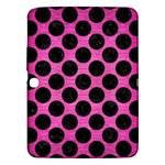 CIRCLES2 BLACK MARBLE & PINK BRUSHED METAL Samsung Galaxy Tab 3 (10.1 ) P5200 Hardshell Case