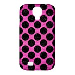 CIRCLES2 BLACK MARBLE & PINK BRUSHED METAL Samsung Galaxy S4 Classic Hardshell Case (PC+Silicone)