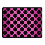 CIRCLES2 BLACK MARBLE & PINK BRUSHED METAL Double Sided Fleece Blanket (Small)