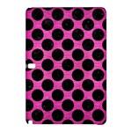 CIRCLES2 BLACK MARBLE & PINK BRUSHED METAL Samsung Galaxy Tab Pro 10.1 Hardshell Case