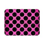 CIRCLES2 BLACK MARBLE & PINK BRUSHED METAL Double Sided Flano Blanket (Mini)