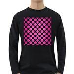CIRCLES2 BLACK MARBLE & PINK BRUSHED METAL (R) Long Sleeve Dark T-Shirts