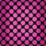 CIRCLES2 BLACK MARBLE & PINK BRUSHED METAL (R) Magic Photo Cubes