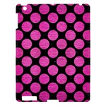 CIRCLES2 BLACK MARBLE & PINK BRUSHED METAL (R) Apple iPad 3/4 Hardshell Case