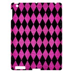 DIAMOND1 BLACK MARBLE & PINK BRUSHED METAL Apple iPad 3/4 Hardshell Case