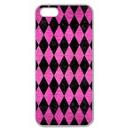 DIAMOND1 BLACK MARBLE & PINK BRUSHED METAL Apple Seamless iPhone 5 Case (Clear)