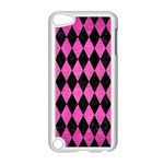 DIAMOND1 BLACK MARBLE & PINK BRUSHED METAL Apple iPod Touch 5 Case (White)