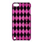 DIAMOND1 BLACK MARBLE & PINK BRUSHED METAL Apple iPod Touch 5 Hardshell Case with Stand