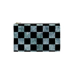 SQUARE1 BLACK MARBLE & ICE CRYSTALS Cosmetic Bag (Small)  from DesignYourOwnGift.com Front