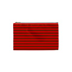 Christmas Red And Green Bedding Stripes Cosmetic Bag (small)  by PodArtist