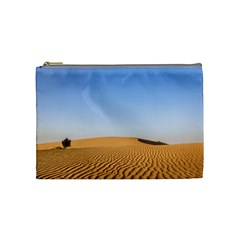 Desert Dunes With Blue Sky Cosmetic Bag (medium)  by Ucco