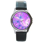 Delicate Round Metal Watch