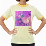 Delicate Women s Fitted Ringer T-Shirts