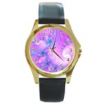 Delicate Round Gold Metal Watch