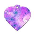 Delicate Dog Tag Heart (One Side)