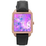 Delicate Rose Gold Leather Watch