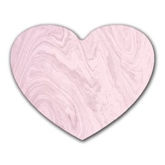 Marble Background Texture Pink Heart Mousepads from DesignYourOwnGift.com Front