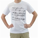 Abuse Background Monochrome My Bits Men s T-Shirt (White) (Two Sided)