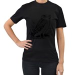 Animal Bird Forest Nature Owl Women s T-Shirt (Black)