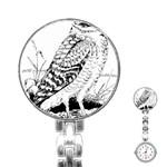 Animal Bird Forest Nature Owl Stainless Steel Nurses Watch