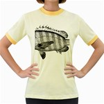 Animal Fish Ocean Sea Women s Fitted Ringer T-Shirts