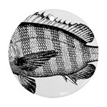 Animal Fish Ocean Sea Round Ornament (Two Sides)