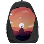 Design Art Hill Hut Landscape Backpack Bag