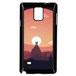 Design Art Hill Hut Landscape Samsung Galaxy Note 4 Case (Black)