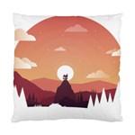 Design Art Hill Hut Landscape Standard Cushion Case (Two Sides)