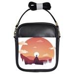 Design Art Hill Hut Landscape Girls Sling Bags